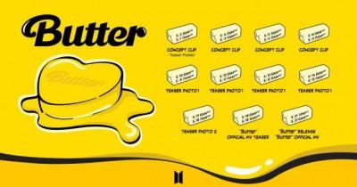 BTS Akhirnya Rilis Teaser Lagu Solo 'Butter' di YouTube, Begini Tampilan Videonya