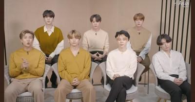 Pidato BTS Terima Penghargaan Asia Game Changer 2020