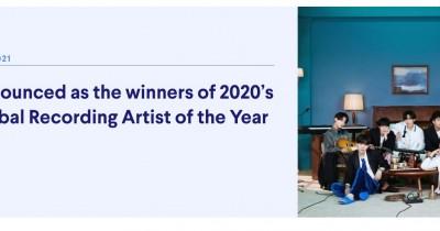 BTS Kalahkan Taylor Swift di IFPI Global Recording Artist of the Year Award 2020