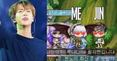 Dapat Uang Angpao, Jin BTS Habiskan untuk Game Maple Story