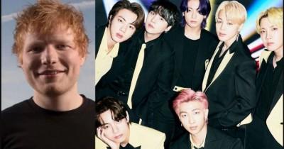 ARMY Heboh, Kolaborasi BTS dan Ed Sheeran Dipastikan akan Terjadi